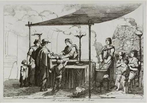 Bartolomeo Pinelli, Il Friggitore, Raccolta di costumi pittoreschi, Roma, 1809