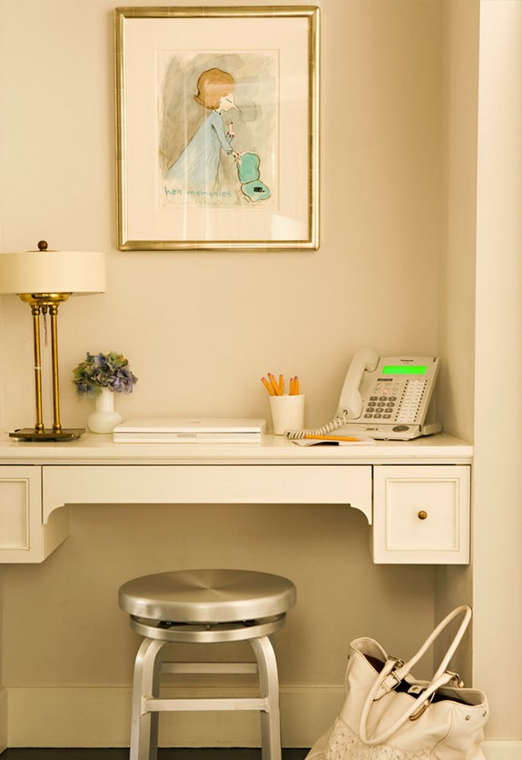 neutral office nook