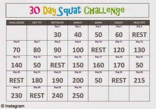 30 days Squat Challenge