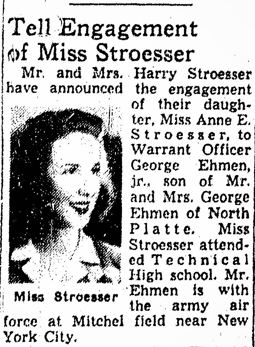 The Heritage Huntress: Wedding Wednesday: Anne STROESSER