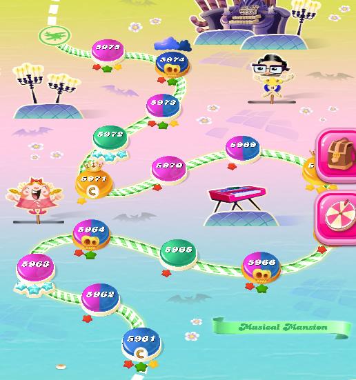 Candy Crush Saga level 5961-5975