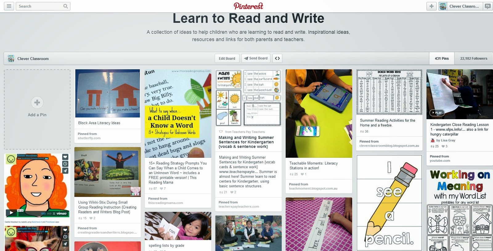 I can Read: Learning to read at home Learn to read and Write Pinterest board