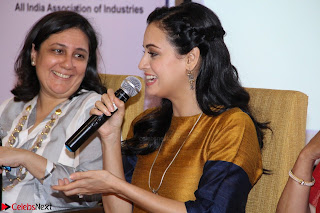 Dia Mirza Attends Power Women Seminar To Celete Womens Day 025.JPG