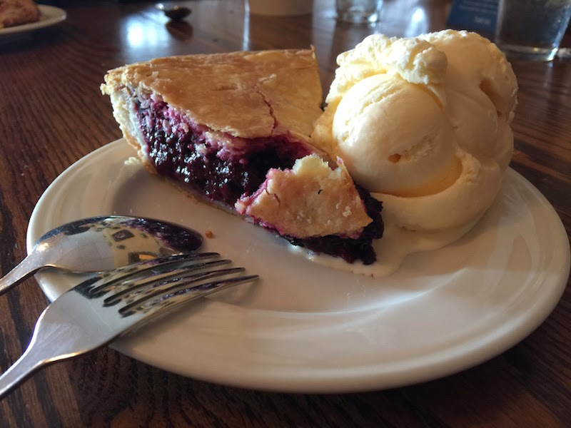 Olallaberry pie at Duarte's Tavern in Pescadero