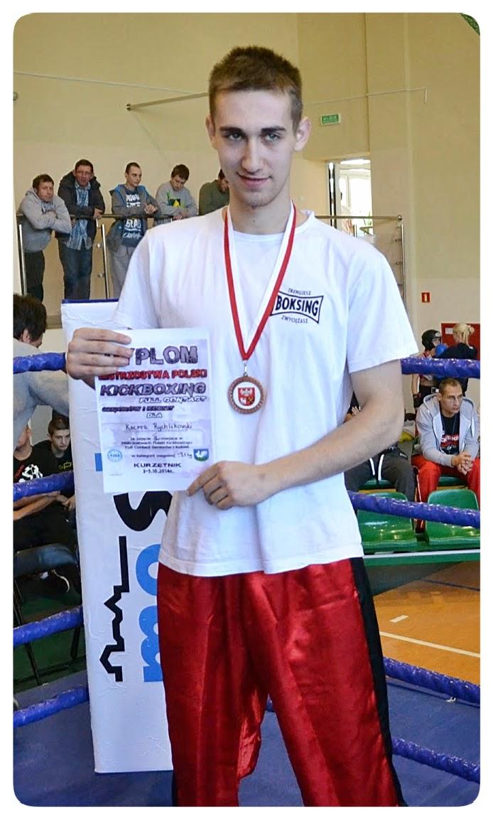 Kacper Rychlikowski, sport, kickboxing, k-1, trening, sport, Zielona Góra, zawodnik, SKF Boksing Zielona Góra