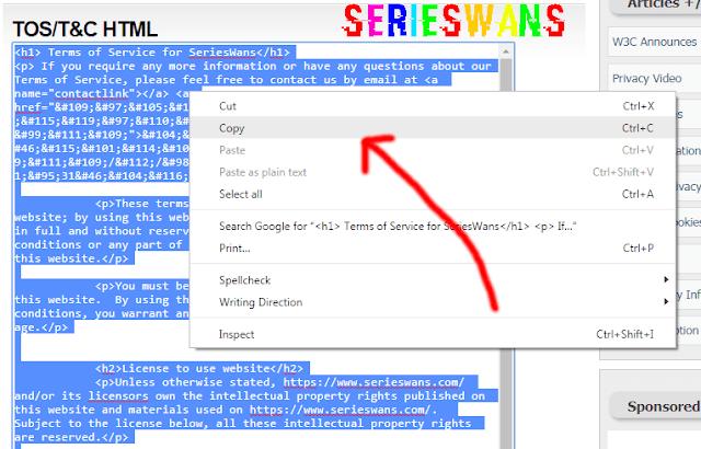 Membuat Terms Of Service (TOS) Blog dengan TOS Generator