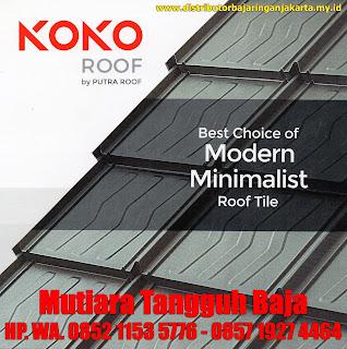 Koko Roof Genteng Metal Minimalis Modern Pertama dengan Rusuk Timbul