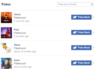 What does it mean when you get poked on Facebook