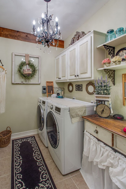 laundry-room-chandelier-french-farmhouse-makeover