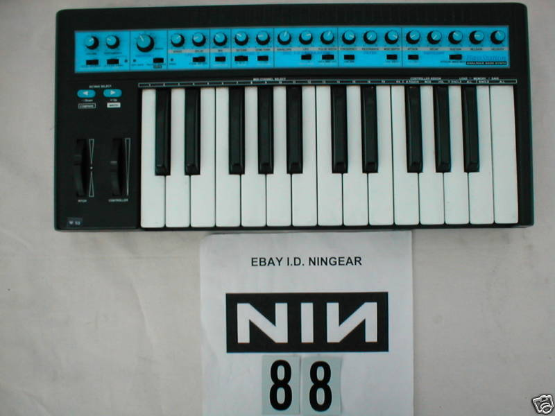 MATRIXSYNTH: NINE INCH NAILS Novation Bass Station For Auction