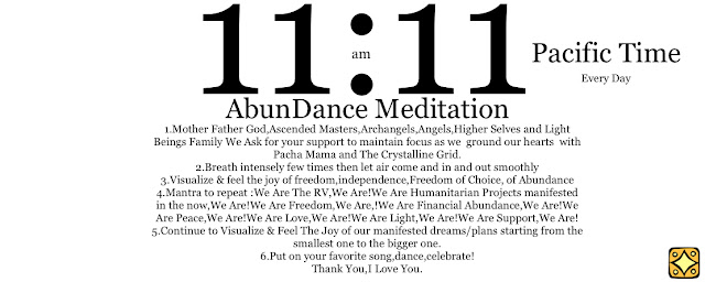 11:11 Synchronized AbunDance Meditation for RV Activation 6/17/17 11-11