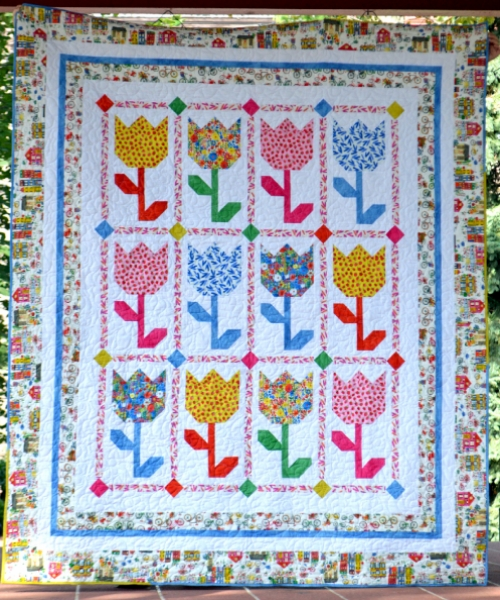 Tulips Quilt - Free Pattern
