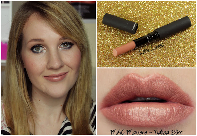 MAC Naked Bliss Mattene lipstick swatch