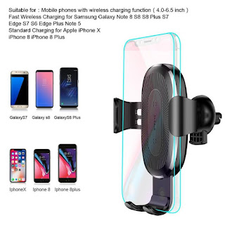 Baseus 10W Qi Wireless Car Charger Phone Holder