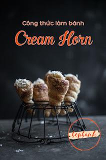 Cách làm bánh Cream Horn ngàn lớp
