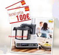 Logo Penny Market : vinci gratis 100 buoni spesa da 100 euro e 1 Robot da cucina Kenwood