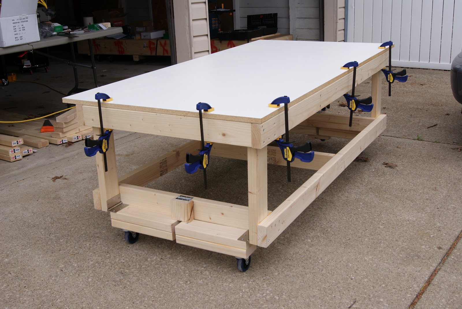 diy workbench with wheels | woodproject