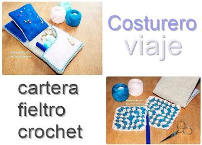 Como hacer un Costurero de Viaje entre Crochet y Fieltro
