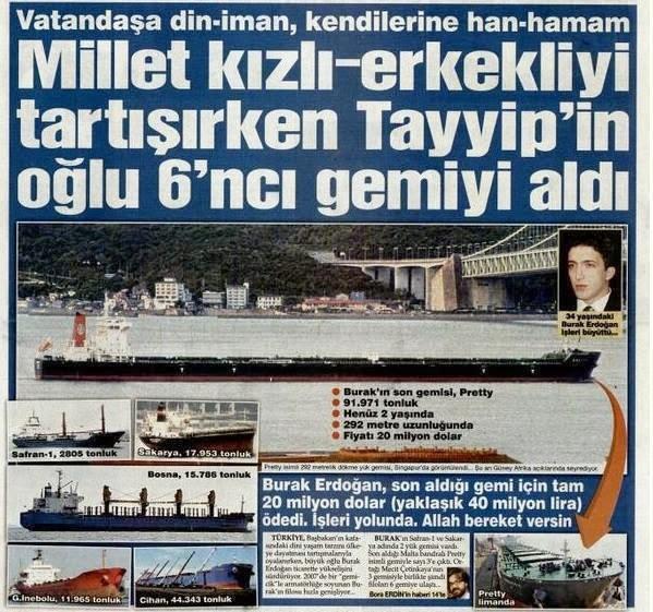 akp'nin gerçek yüzü, bilal erdoğan, burak erdoğan, gemicik, gerçek, gerçekleri, mecit çetinkaya, recep tayyip erdoğan