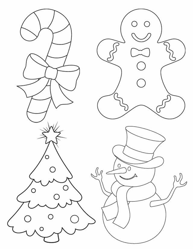 Desenhos De Enfeites De Natal Para Colorir