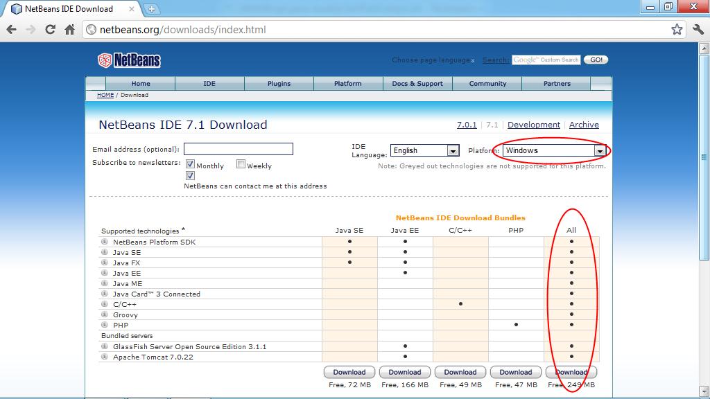 Install NetBeans IDE on Windows 8 | javafx