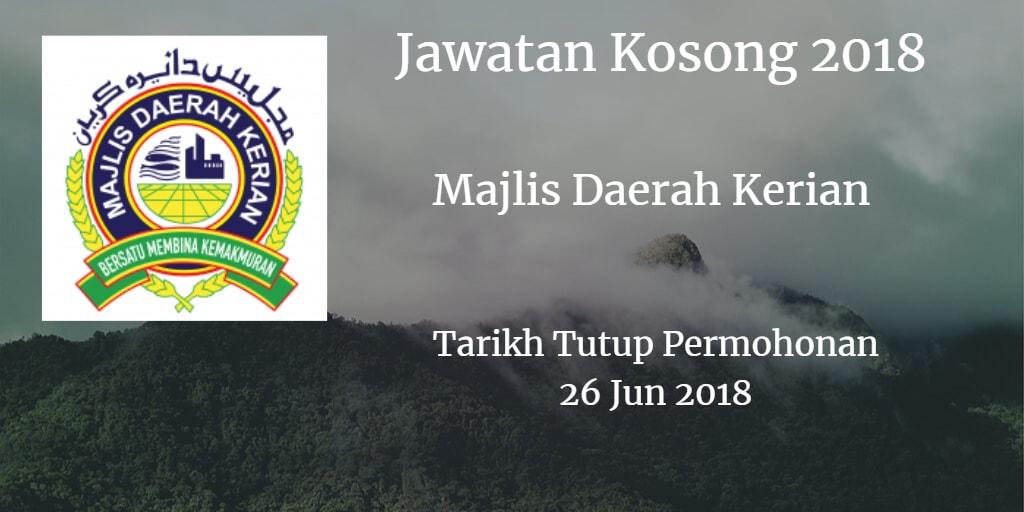 Jawatan Kosong MDKerian 26 Jun 2018