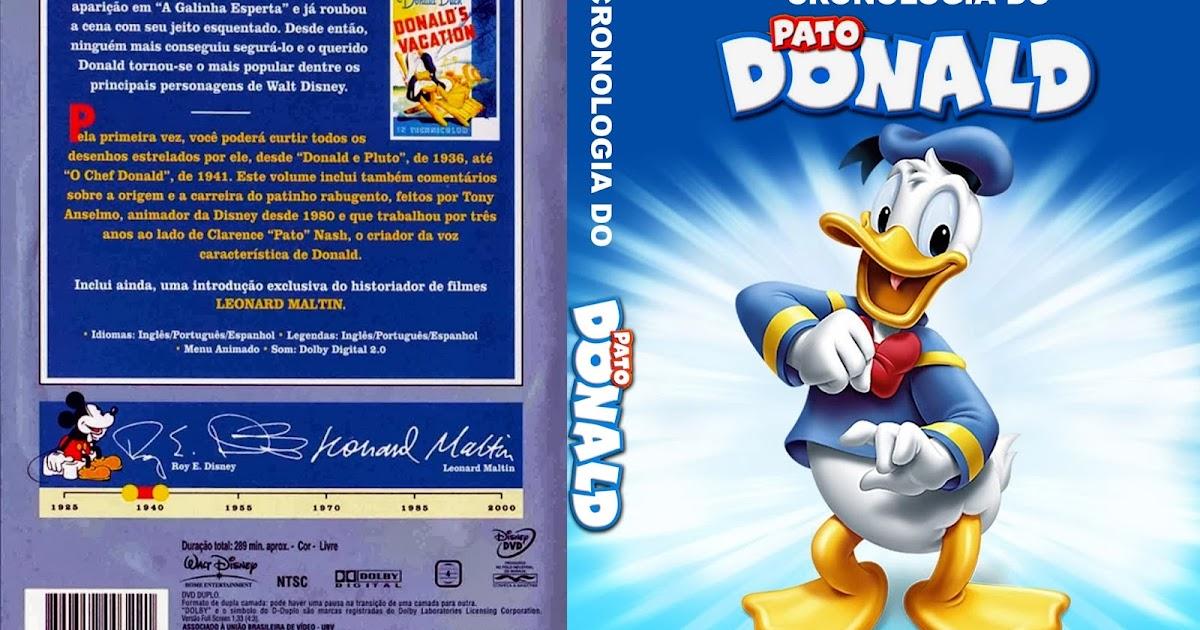 CAPAS DVD VIDEO JP: CRONOLOGIA DO PATO DONALD