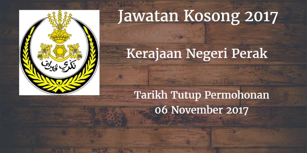Kerajaan Negeri Perak Jawatan Kosong SUK Perak 06 November 2017