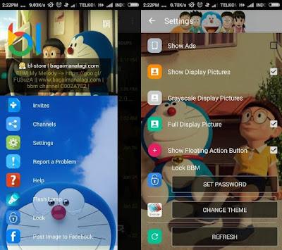 Screenshot BBM Whatsapp Mod Doraemon v 2.12.0.9