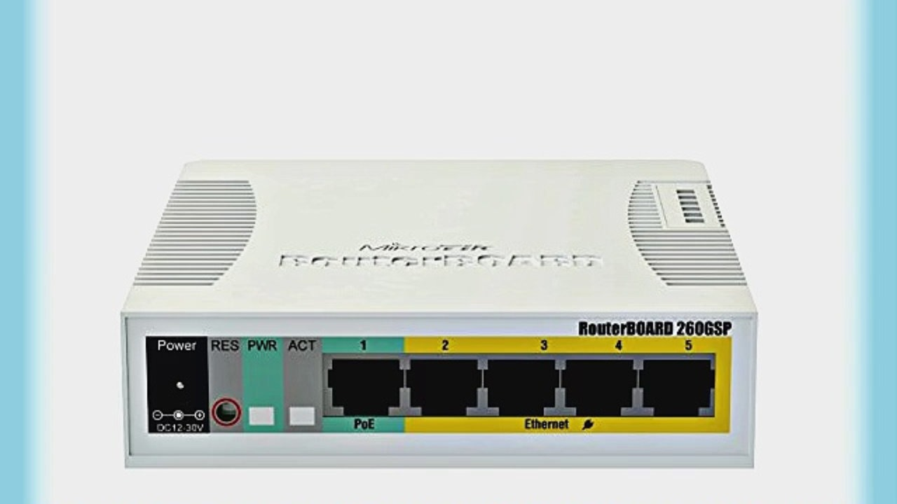 Mikrotik Routerboard Rb260gsp 5-Port Gigabit Managed Switch