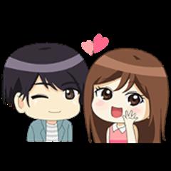 Happy Chibi Couple (Sachet)