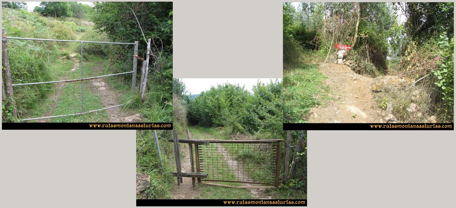 Ruta Cascadas Guanga, Castiello, el Oso: Portillas en el camino
