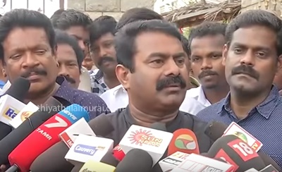 Seeman Pressmeet about Velmurugan Arrest