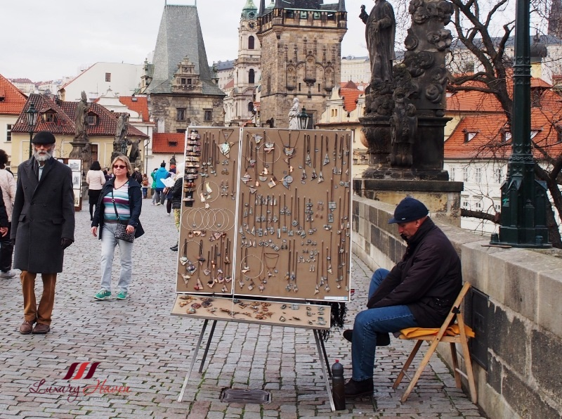 prague tourist attractions charles bridge shop for souvenirs
