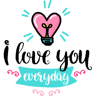 Love You Sticker