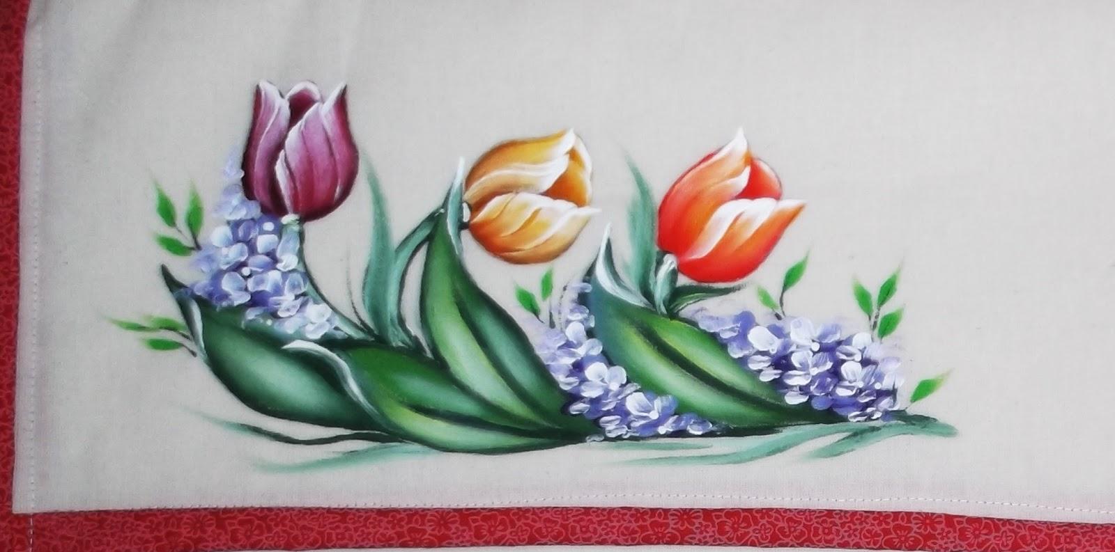 Pintura em tecido como fazer passo a passo riscos e - Tulipas para ventiladores de techo ...