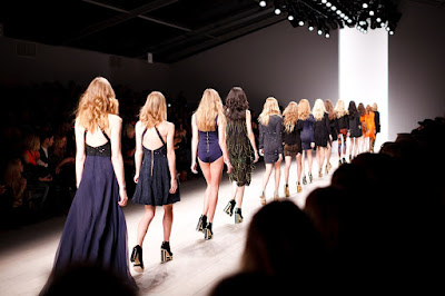 A picture of a fashion week taking place in time.