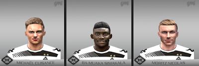 PES 6 Facepack Borussia Mönchengladbach 2018 by Gabo Facemaker
