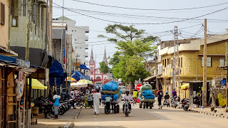 Leading to the cathedral in Lomé