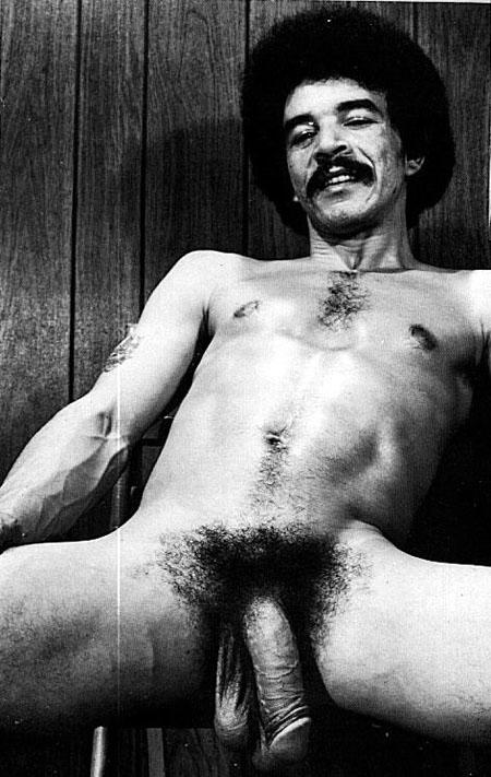 Vintage man naked