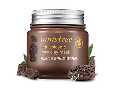 Innisfree - Jeju Volcanic Pore Clay Mask (100 ml). Maschera wash-off all'argilla vulcanica che assorbe il sebo, pulisce i pori e rimuove le impurità che si insinuano in profondità nei pori