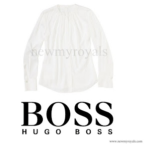 Queen Letizia wore HUGO BOSS Bluse