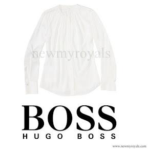 Queen Letizia wore HUGO BOSS Bluse