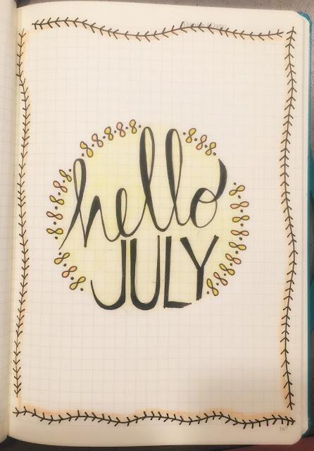 Bullet Journal set up for July!