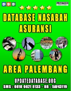 Jual Database Nasabah Asuransi Palembang