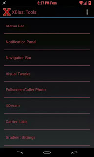xblast tools android xposed module user interface
