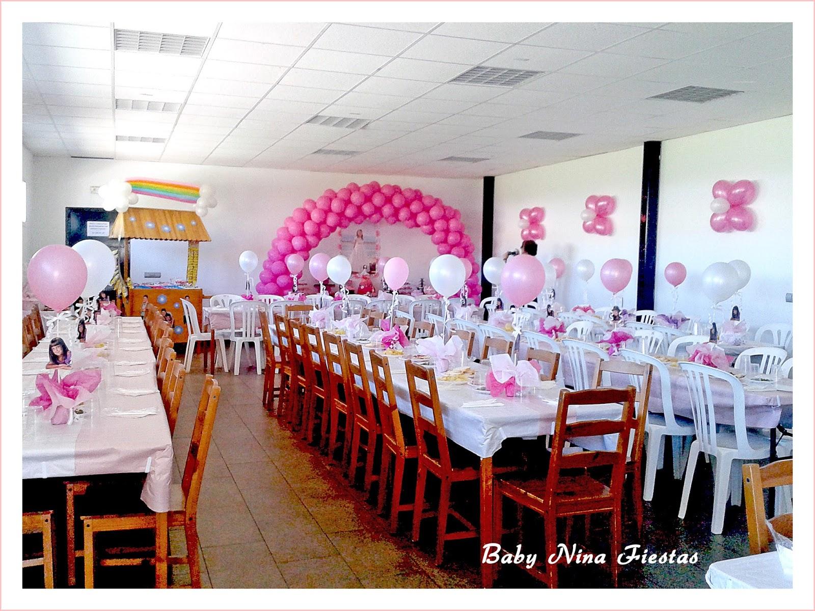 Baby nina fiestas decoraci n comuni n estrella - Adornar mesas de comunion ...