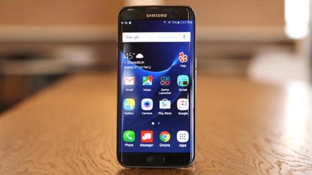 Điện thoại samsung galaxy s7 edge sau khi đã được thay mặt kính