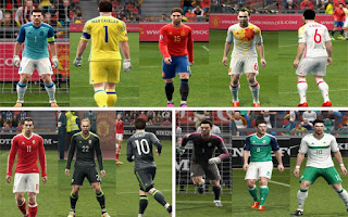 Kits: Wales, Spain, Northern Ireland, Euro 2016, Pes 2013