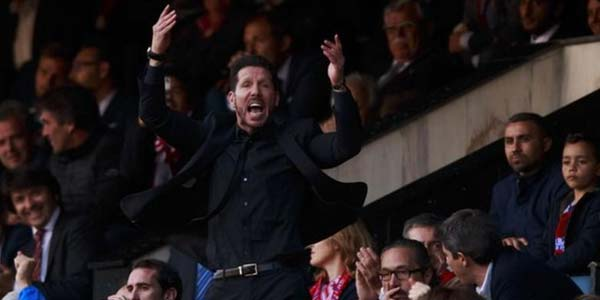 Simeone Dilarang Hadir Hingga Akhir La Liga